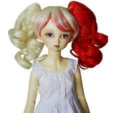 "[wamami] 97# Colourful Wavy Wig Fits On 1/4 MSD AOD DOD DZ BJD Dollfie 7""-8"""