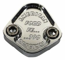 F009-FS38 FUEL PUMP BLOCK OFF PLATE - 390 FORD - FE SERIES - 6061 - POLISHED-USA
