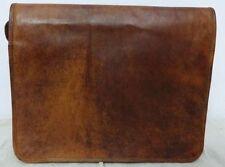 """13""""New  Men's Vintage Leather Full Flap Messenger Laptop Satchel Shoulder Bag"""