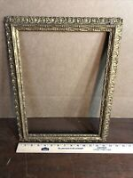 """Vintage Victorian Gesso Gold Color Frame Fits 11"""" by 15"""" Painting"""