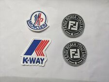 lot de 4 Patches / Ecussons K WAY FENDI