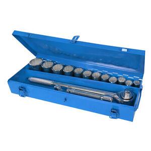 """Silverline 3/4"""" Drive Socket Set 15 Piece Metric 22 - 46mm"""