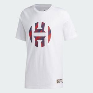 Adidas Men's James Harden Basketball Tee, White