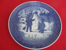 1985 ROYAL COPENHAGEN CHRISTMAS  PLATE DANCING MAKING A SNOWMAN