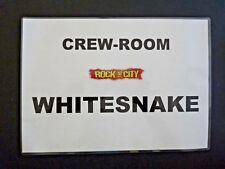 Whitesnake Tour Used Crew Room Door Sign ORGINAL LAMINATED