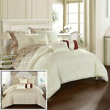 Chic Home Maddie 10 Piece Reversible Comforter Bed in a Bag Pinch Pleat...