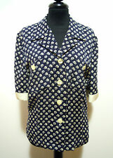 LUISA SPAGNOLI Camisa De Mujer Seda Rayón seda mujer camisa M Sz. - 44