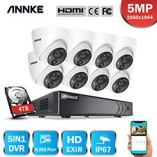ANNKE HD 5MP PIR Überwachungskamera 8CH DVR Visual Alert Fernzugriff H.265+ IP67