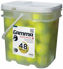 Gamma Pressureless Tennis Ball Bucket  Case w/48 Practice Balls  Sturdy/Reusable