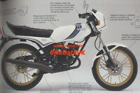 NOS Yamaha RD 80 MX (1982-1985) Original Factory Sales Brochure RD80MX 12G BV53