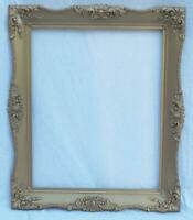 "Vintage 24""x20"" Painted Gold Wood Ornate Picture Frame"