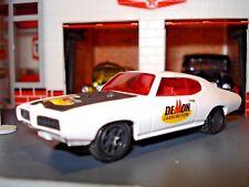 "1969 69 PONTIAC GTO 455 LIMITED EDITION 1/64 M2 ""DEMON CARBS ""  WHITE RACE CAR"