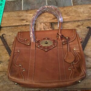 Mulberry Detailed Leather Top Handle Bag -NEW