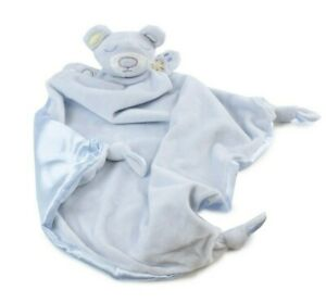 NEW without box Bubba Blue Security Baby Blanket - Blue Bear Sleep Comforter