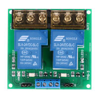 2-Channel 24V 30A Relay Board Module Optocoupler Isolation High/Low Trigger D9R4