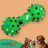 Paws UP Multi-color Polka Dots Squeeze Faux Bone Dog's Squeaky Chew Toy(LARGE)