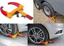 Heavy Duty Automotive Anti Theft Wheel Clamp Boot Chock Lock New Free Shipping