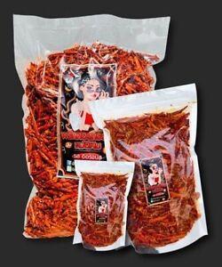 500g+ FREE 100g Mae E-Pim Thai Crispy Fried Chili Tasty Party Snack Ready To Eat