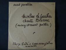 Rare disque 33T Maxime le forestier chante Brassens 1979 numéroté n°255/1000