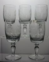 STUNNING CUT GLASS CRYSTAL SHERRY PORT GLASSES SET OF 5
