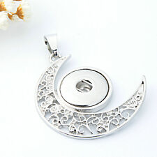 NEW  Crystal Alloy Pendant for Fit Noosa Necklace Snap Chunk Button A13
