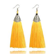 Women Vintage Fish Bohemian Dangle Long Tassel Fringe Ear Drop Earring Jewelry