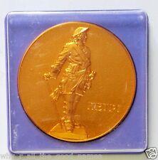 Souvenir RUSSIA Gold Tone Medallion Token PETERHOF Park Plan - Founded in 1714