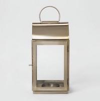 Large Brass Lantern Candle Holder Gold