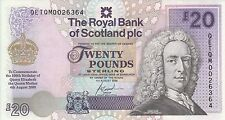 Royal Bank of Scotland 20 pounds (2000)  P-361 Queen Mother commemorative UNC