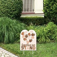 Big Dot of Happiness Together, We Stand - Outdoor Lawn Sign - Believe.
