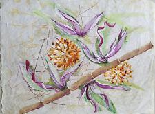 "Painter Suzanne Obrand, Holocaust Survivor, Painting ""Watercolor on Silk #1"""