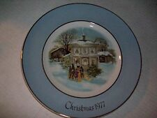 Christmas 1977, Christmas Plate Series, Fifth Edition, Carollers In Snow, Avon