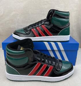 Adidas Top Ten Hi (RB) Black Green Red Patent FX7874 Men's Size 9