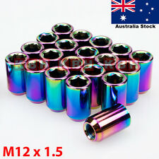 M12X1.5mm Wheel Rim Racing Lug Nuts Kit Open Ended Key Tool 20pcs Neo Chrome