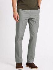 Pantaloni da uomo chino, kaki grigio in cotone