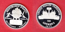 1977 Haiti Large Silver Proof 50 Gourdes 1980 Moscow Olympics
