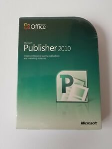 BRAND NEW SEALED retro Microsoft Office Publisher 2010 software for Windows 7