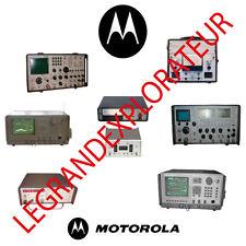 Motorola Communications System Spectrum Analyzer Service Monitor Manual s on DVD