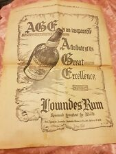 Lowndes West India Rum - 1931 Advertisement