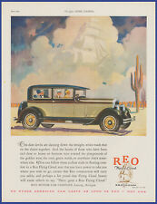 Vintage 1927 REO Flying Cloud Brougham Automobile Closed Car 20's Print Ad