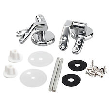 Pair of Chrome Finished Toilet Seat Hinges For Wood Seats Inc Fittings  - By TRI