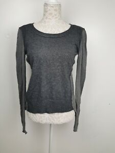 Authentic D&G Dolce And Gabbana Grey Asymmetric Wool Jumper Sz M UK 10 EU 38