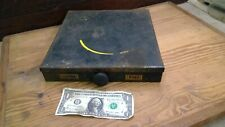 Vintage Industrial Metal Small Parts Drill Bits Storage Bin Box Cabinet