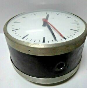 VINTAGE DOUBLE SIDE ATR HALL CLOCK INDUSTRIAL GOVERNMENT HOSPITAL SCHOOL FACTORY