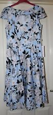 BNWT Belle Poque Blue Floral Dress Super Quality Size 10
