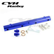 Aluminium Fuel Rail Kits For Mitsubishi Lancer EVO 7 8 9  4G63T 01-05 -Blue