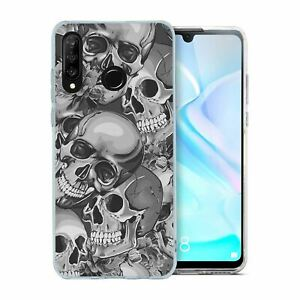 For Huawei P30 LITE Silicone Case Halloween Skull Pattern - S4027