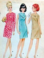 Vintage 8994 Misses Classic Sheath Dress  Pattern sz 14 1967 UNCUT