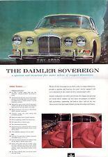 Daimler Sovereign 420 1966-67 folleto de ventas plegable de mercado del Reino Unido
