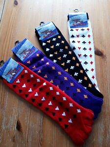 Playing card suit toe socks one size soft and comfy bnwt By Flirt Red Black
